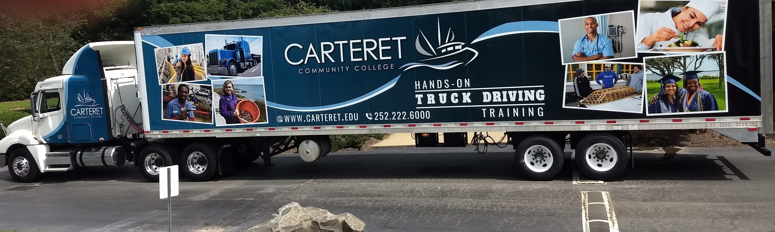 Carteret CC Donated Tractor Trailer